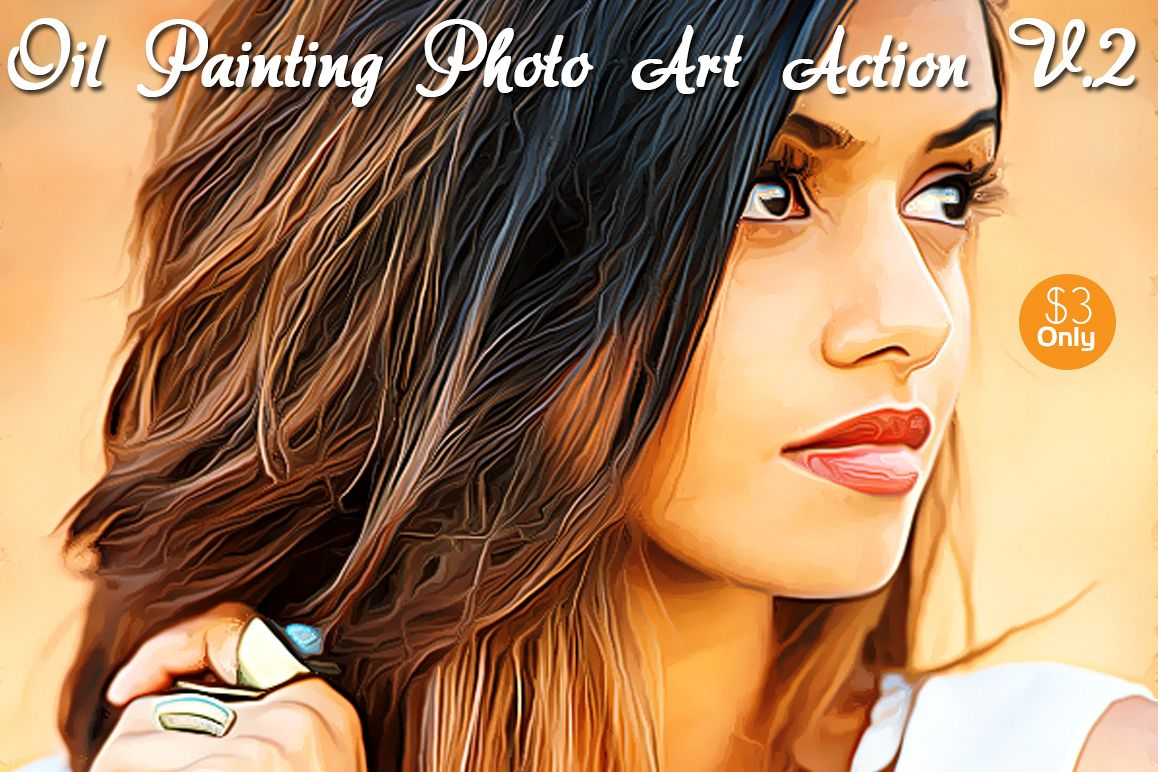 Oil Painting Photo Art Action V.2 example image 1