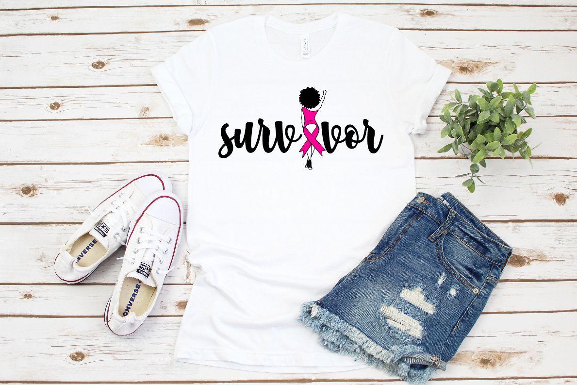 hope, Survivor svg, Pink Ribbon svg example image 1