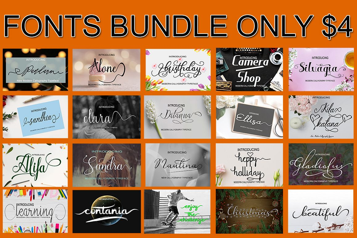 Bundle Font Package Only $4 example image 1