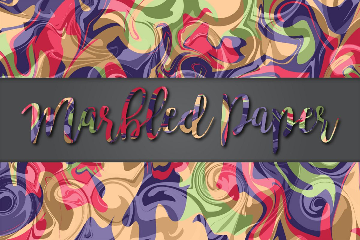 Marbled Paper No8 example image 1