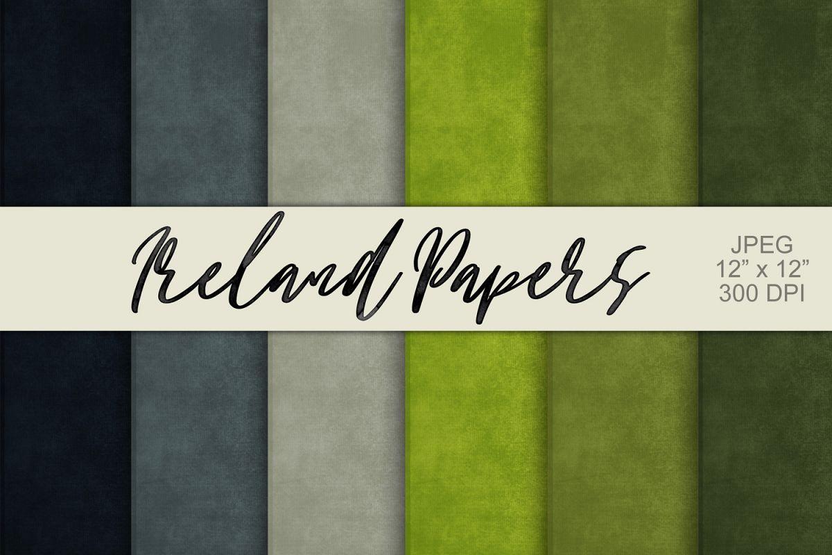 Digital Paper Textured Backgrounds - Ireland example image 1