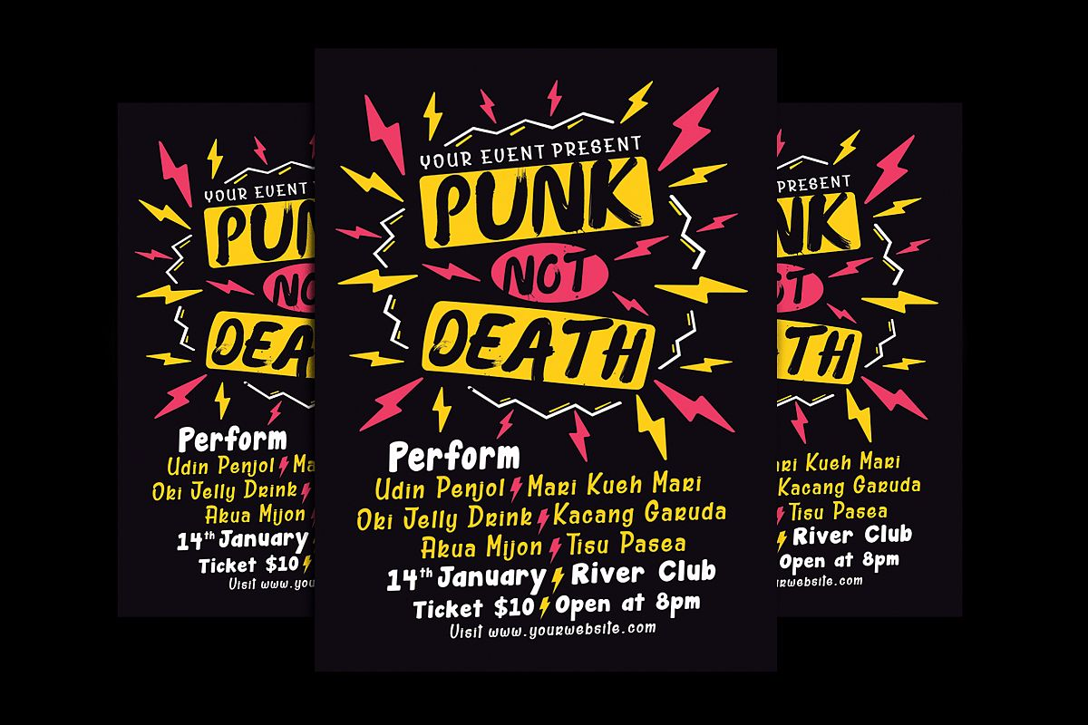 Punk Music Event Flyer example image 1