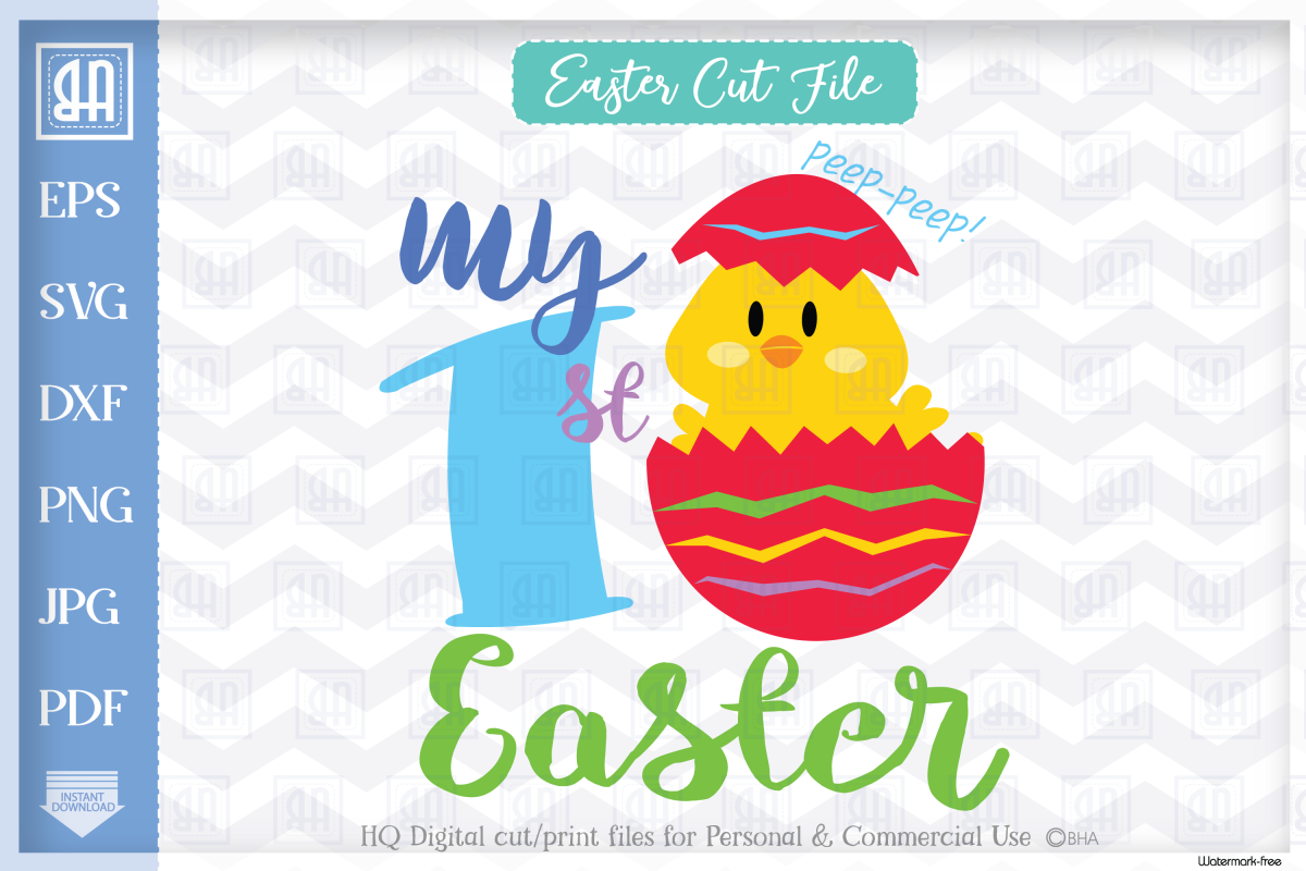 My first Easter svg - Easter Chick SVG - Easter cut file example image 1