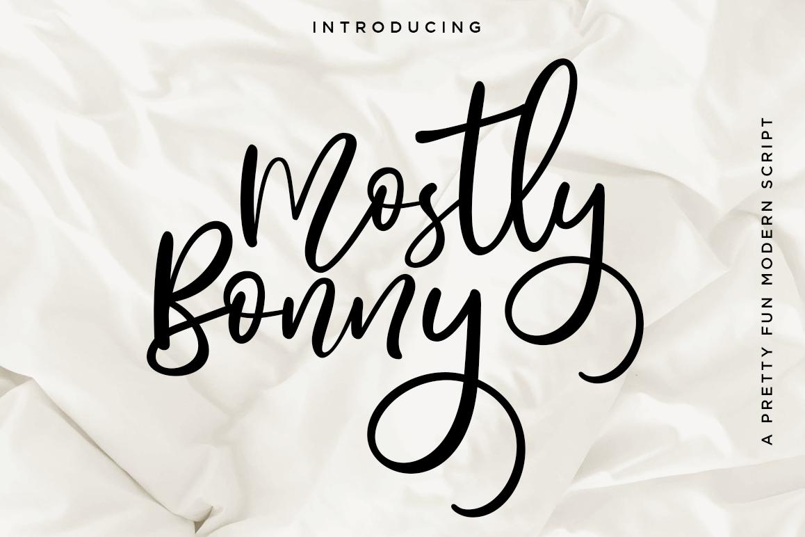 Bonny // Fun Modern Script With Alternates example image 1