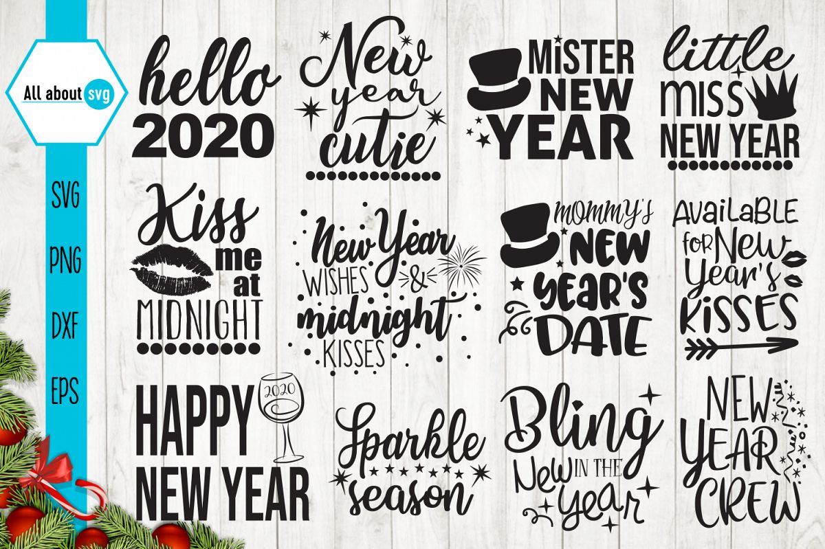 New Year Quotes Svg example image 1