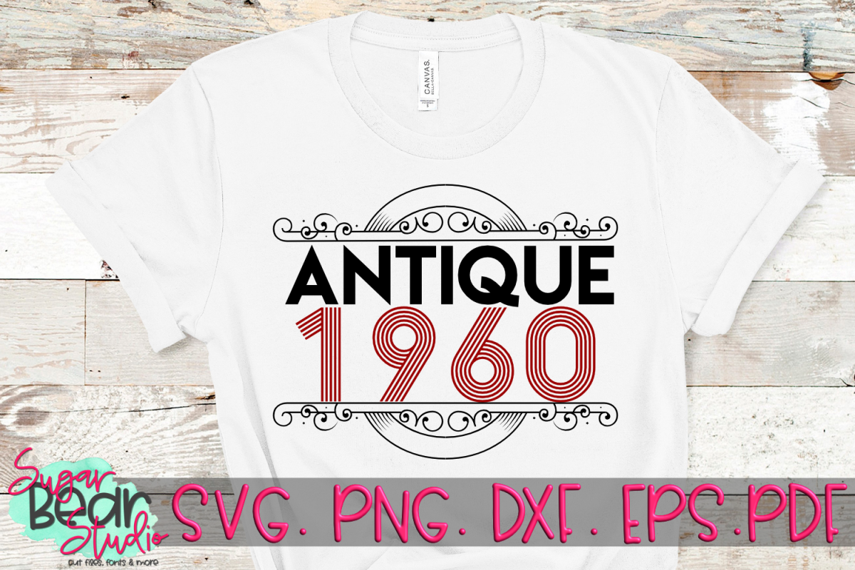 Antique 1950 - 1989 - An Antique Styled Cut File example image 1