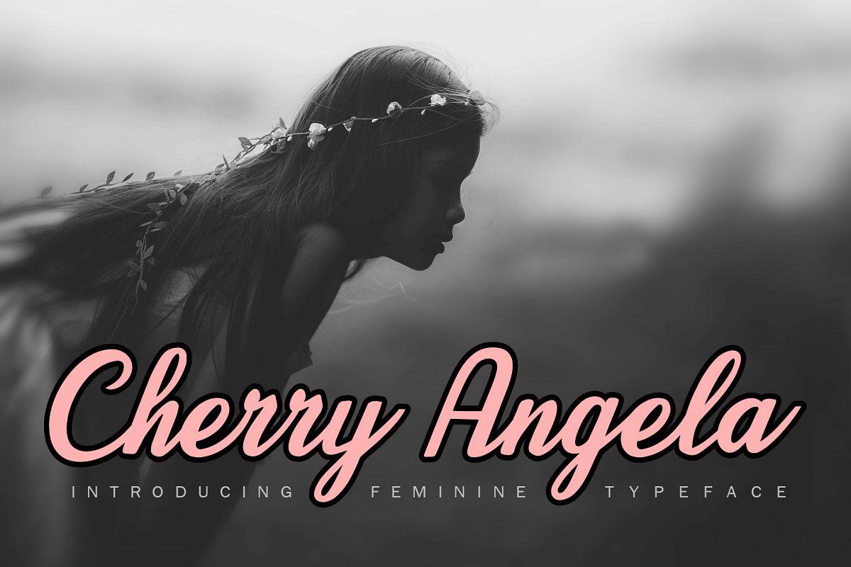 Cherry Angela Script example image 1