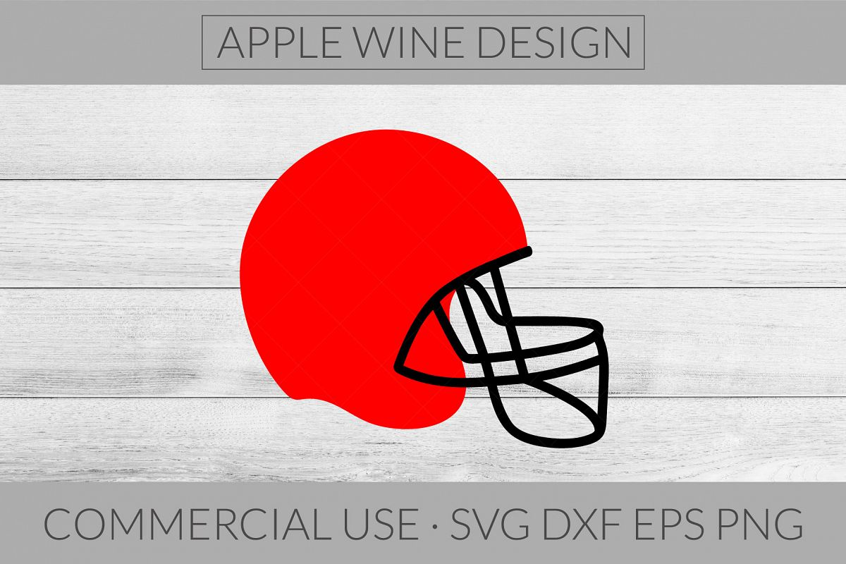 Football Helmet SVG DXF PNG EPS Cutting File example image 1