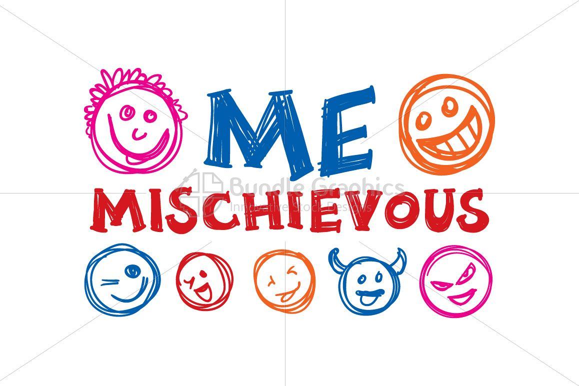 Me Mischievous - Graphic Illustration example image 1