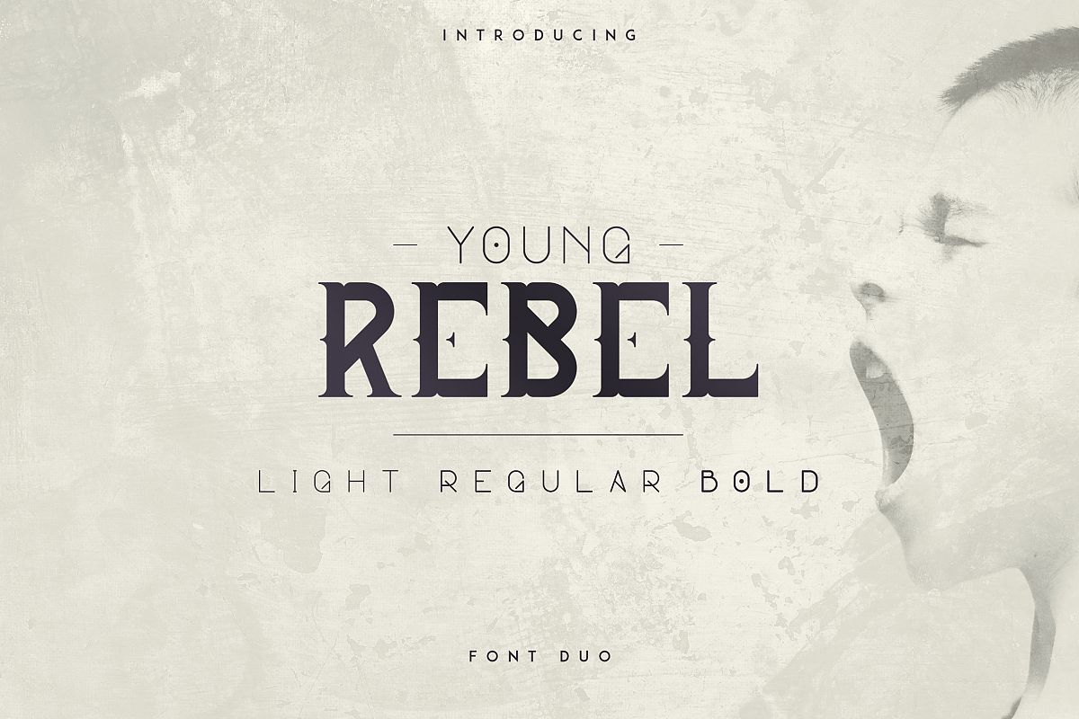 Young Rebel Font Duo example image 1