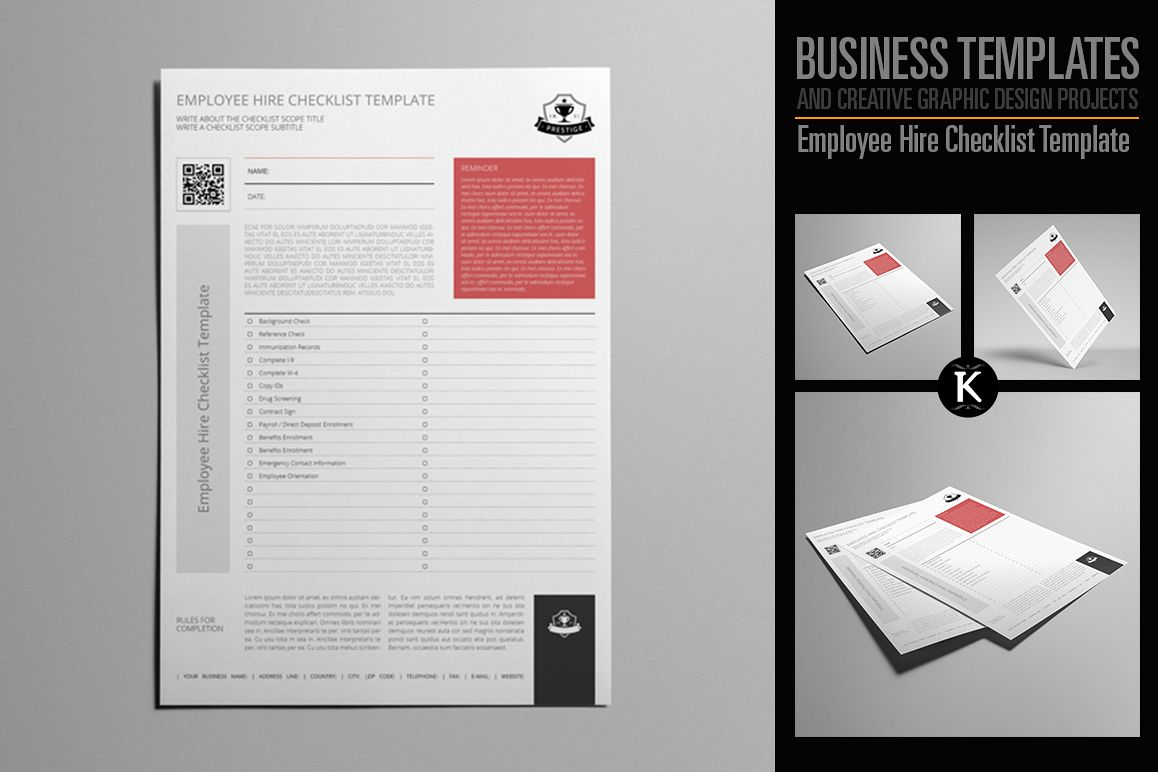 Employee Hire Checklist Template