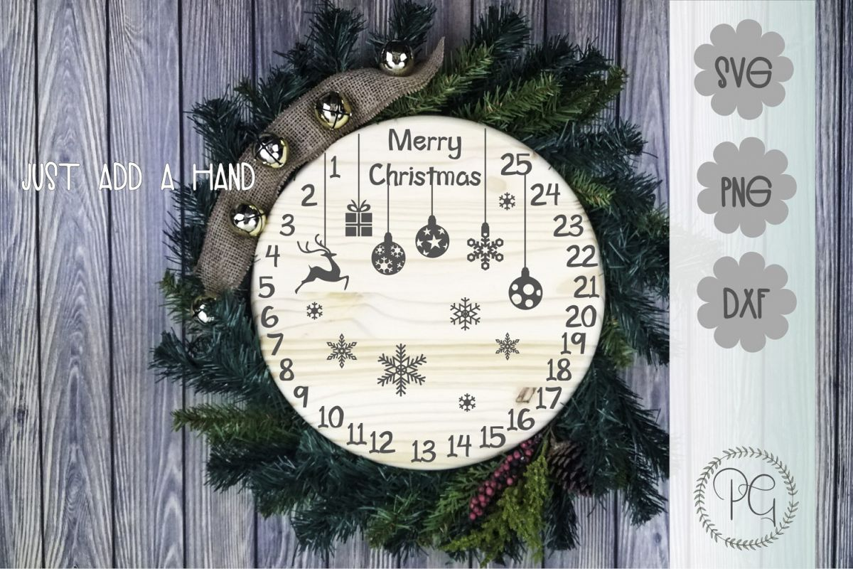 Christmas Countdown SVG PNG JPG DXF example image 1