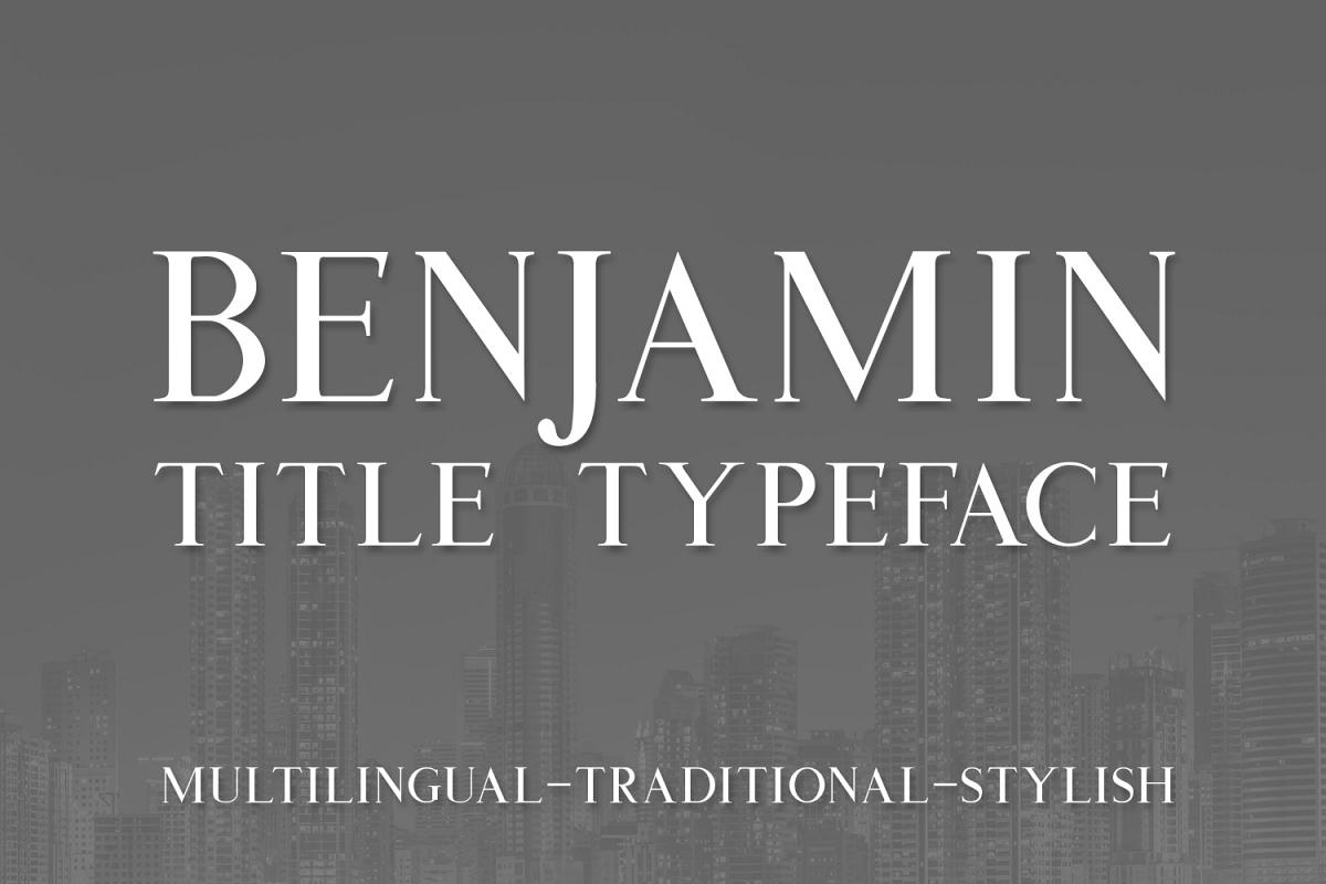 Benjamin Title example image 1