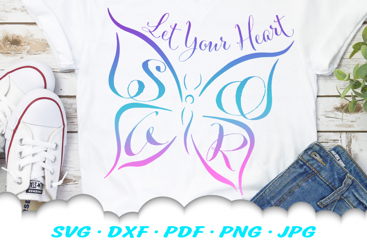 Inspirational SOAR Butterfly SVG DXF Cut Files example image 1
