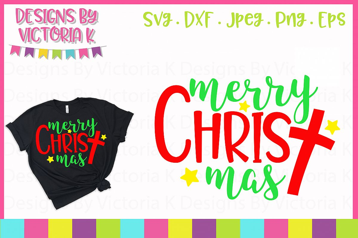 Merry Christmas, Christ, SVG, DXF, PNG