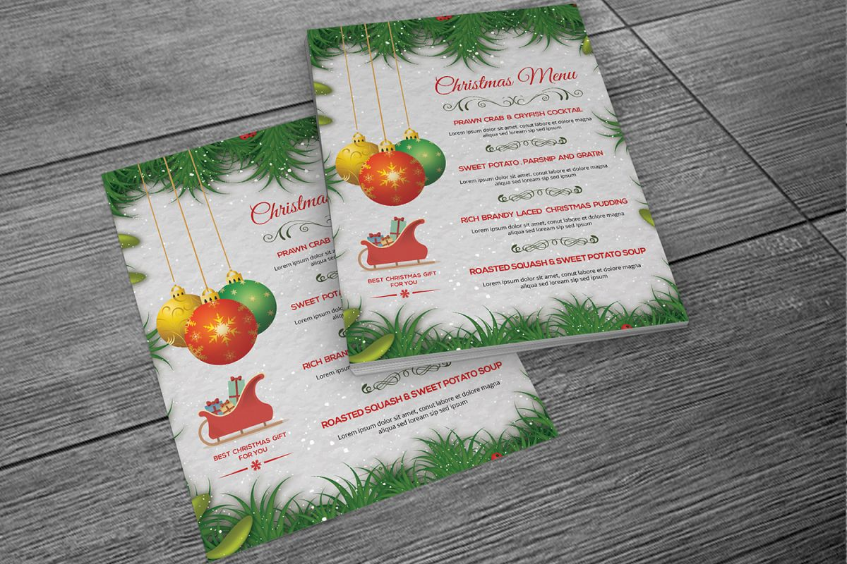 Christmas Party Menu example image 1