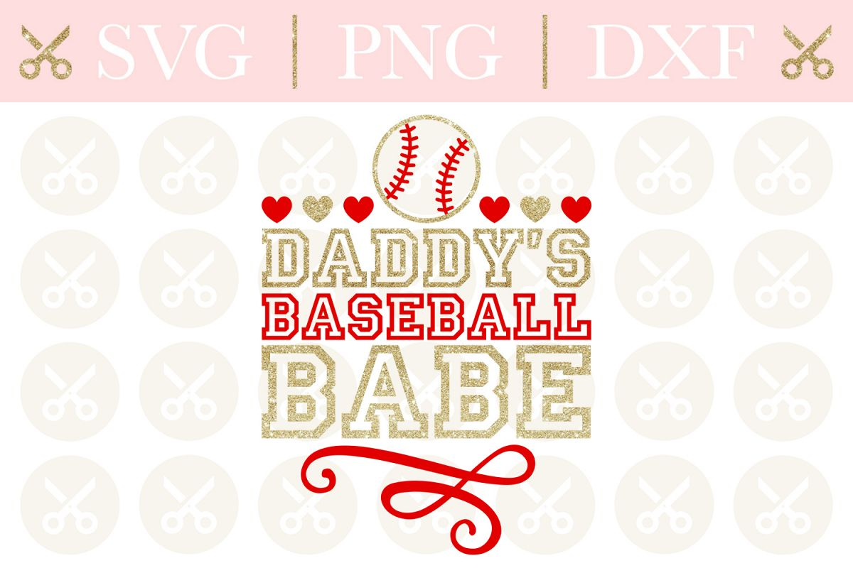 Baseball Svg Daddy's Baseball Babe Svg Baseball Sports Svg example image 1