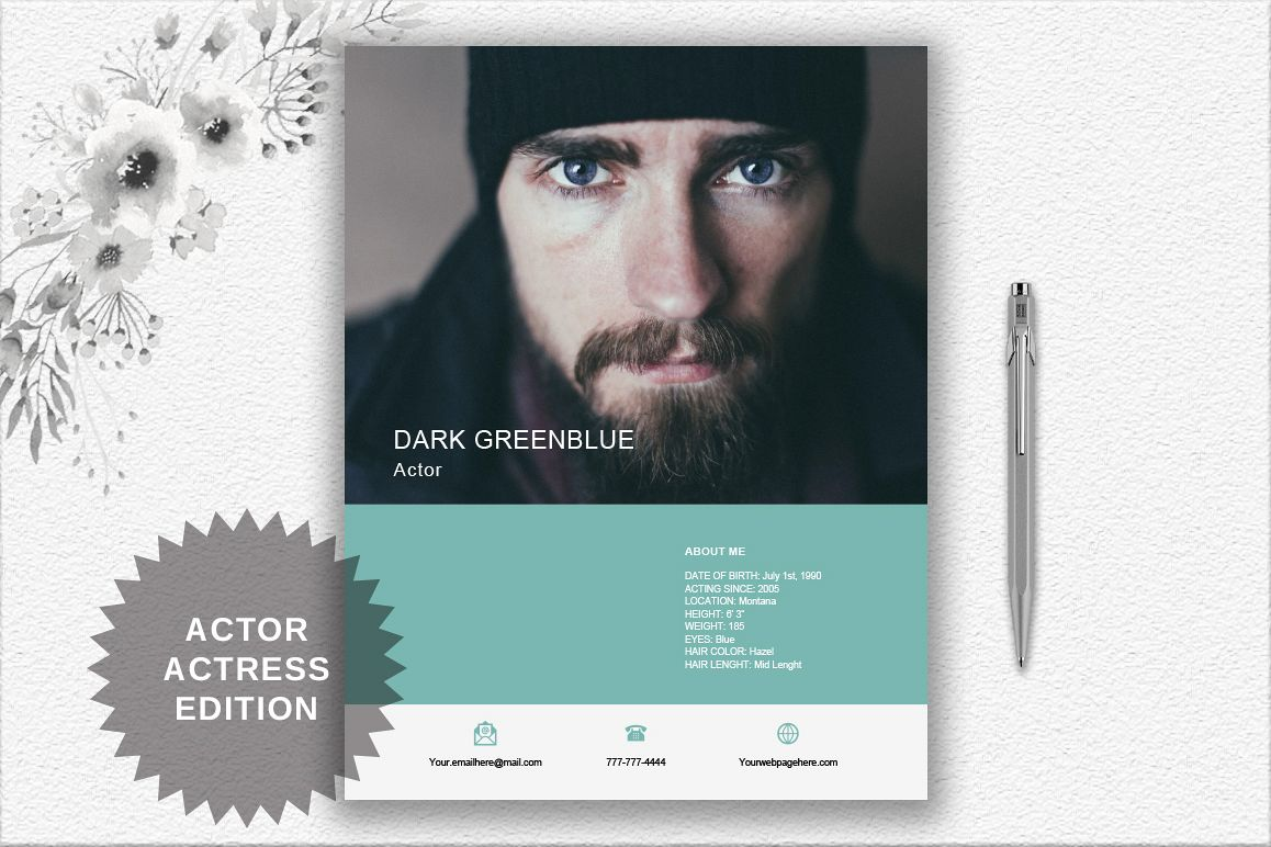 Modern Resume Template | Actor/Actress example image 1