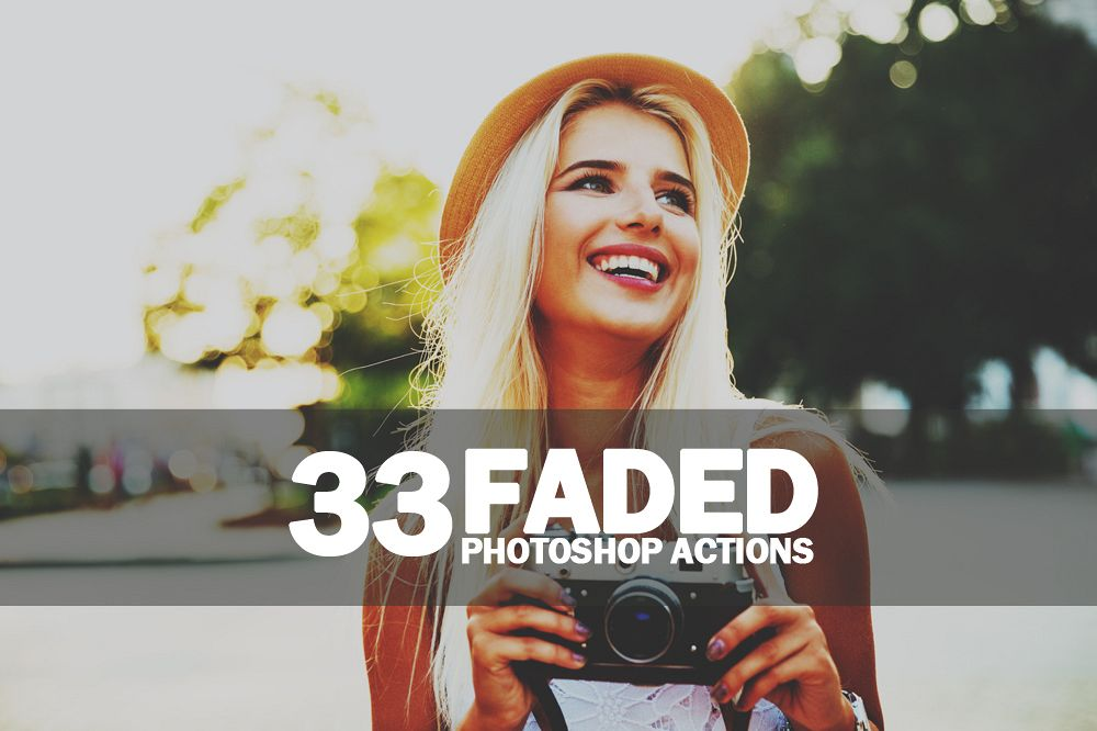 33 Faded Photoshop Actions Collection (Action for photoshop CS5,CS6,CC) example image 1
