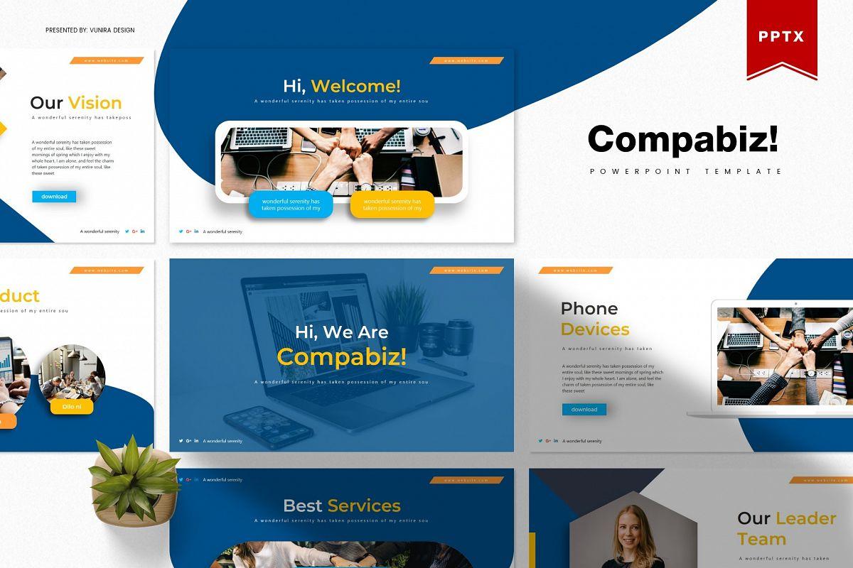 Compabiz! | Powerpoint, Keynote, GoogleSlides Template example image 1