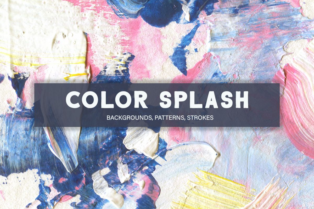 Color Splash Acrylic Collection, patterns and backgrounds example image 1
