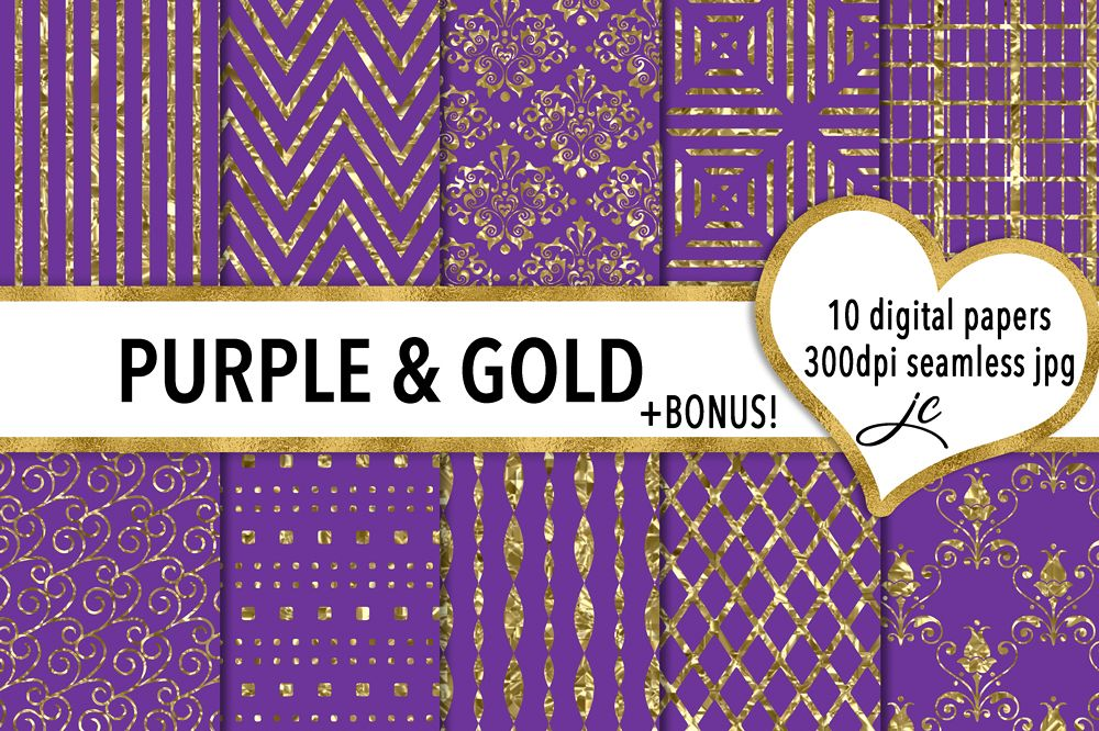 Purple and Gold example image 1
