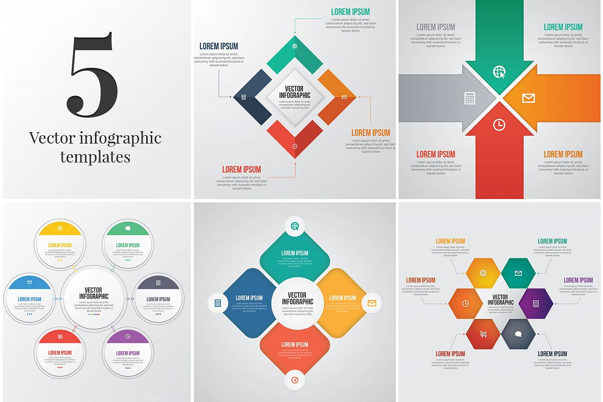 5 Editable Infographic Templates