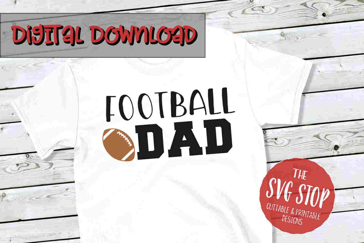 Football Dad 2 -SVG, PNG, DXF example image 1