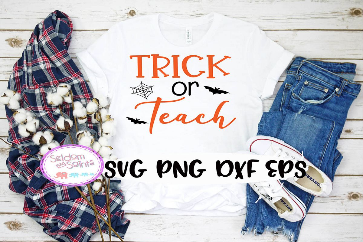 Trick or Teach SVG PNG EPS DXF example image 1