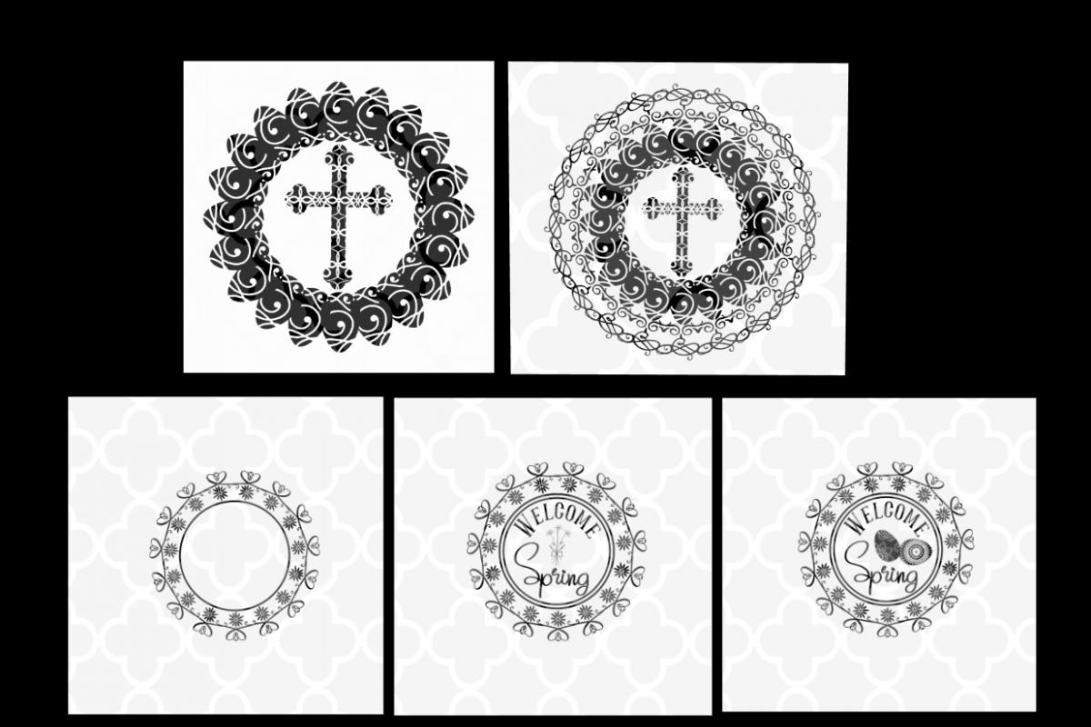 Cross Mandala SVG - Easter Cut files example image 1