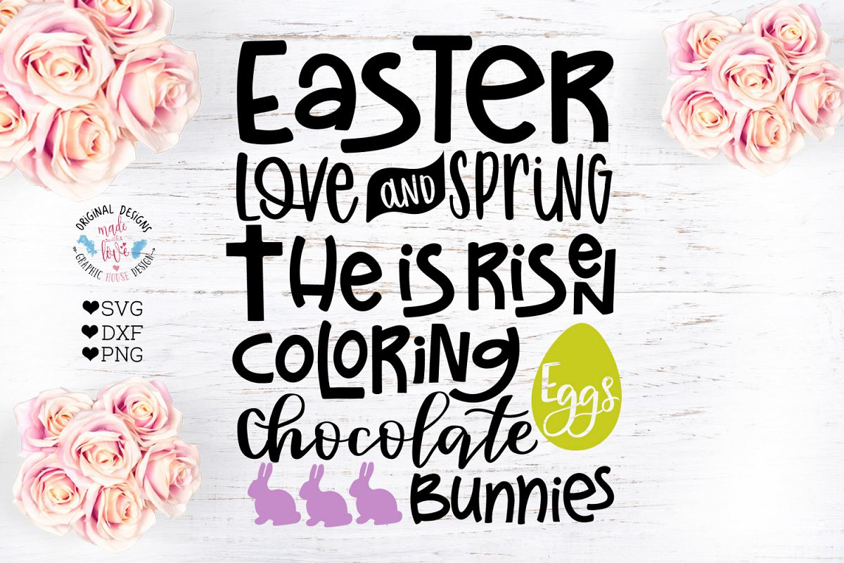 Easter Subway Art Cut File in SVG, DXF and PNG example image 1