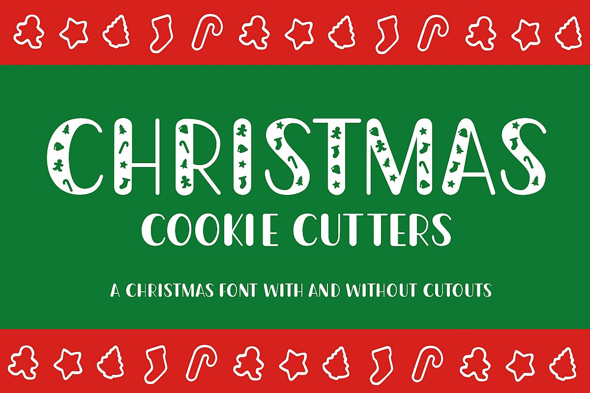 Christmas Cookie Cutters - A Christmas Font example image 1
