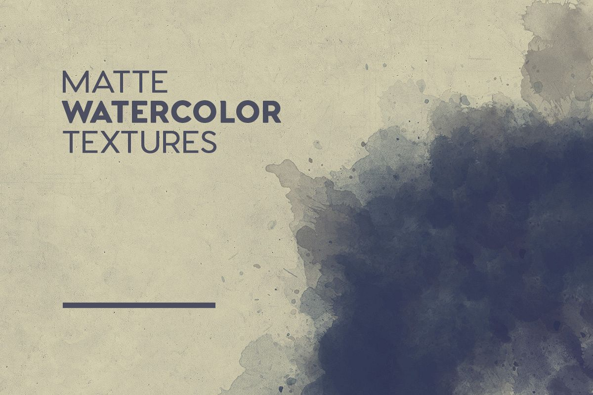 Matte Watercolor Textures example image 1