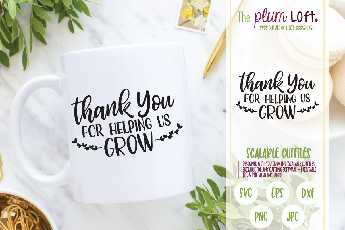 It is a graphic of Insane Thank You for Helping Us Grow Printable