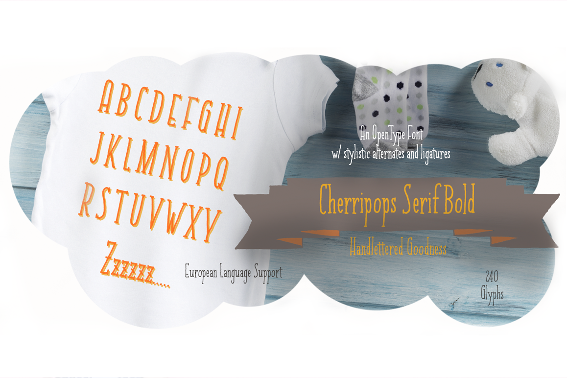 Cherripops Serif Bold example image 1