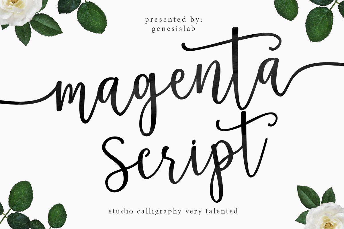 Magenta Script example image 1