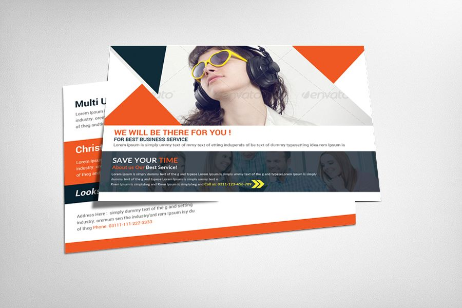 Multi Use Business Postcard Template example image 1