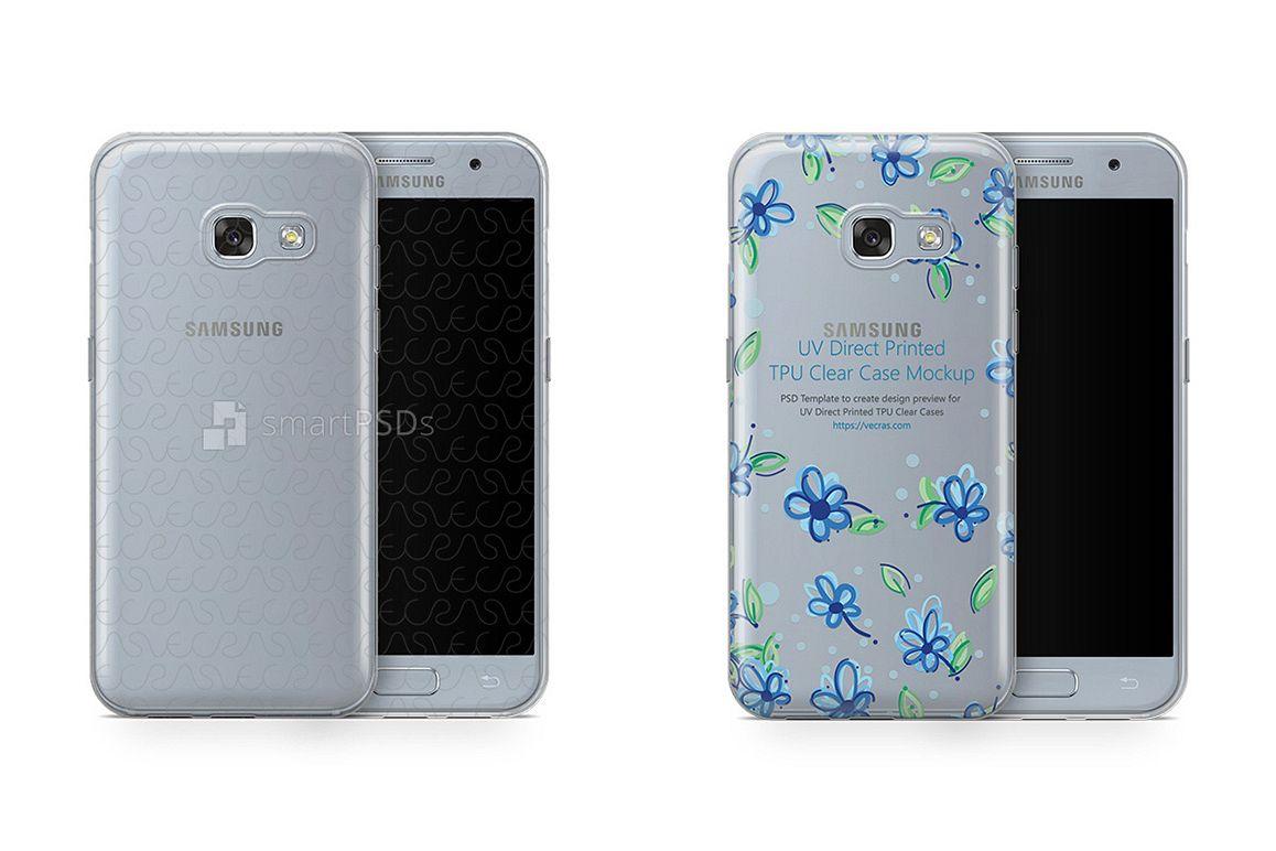 Samsung Galaxy A3 2017 UV TPU Clear Case Design Mockup example image 1