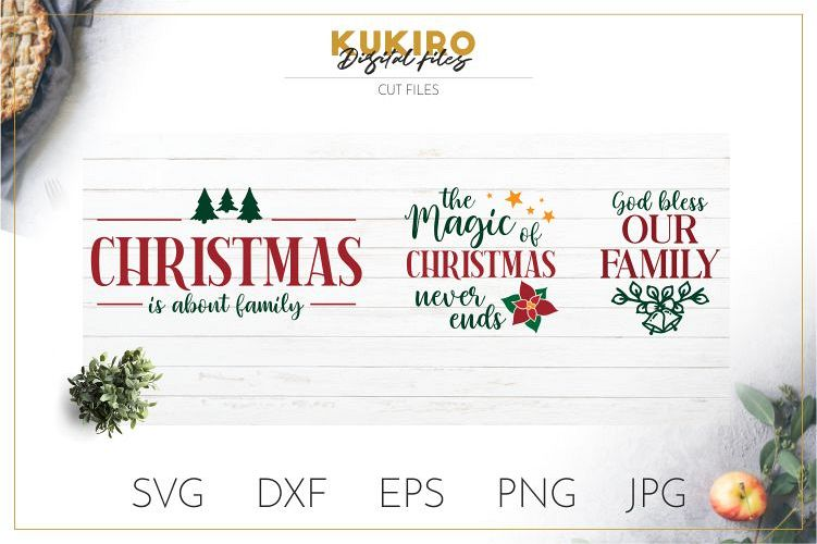 Farmhouse Christmas Signs SVG - Christmas Family example image 1