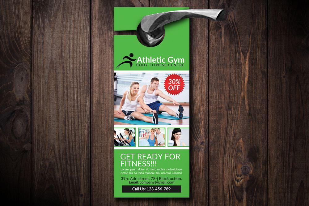 Body Fitness Club Door Hangers example image 1