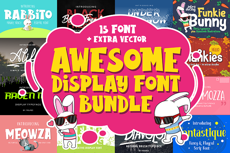 Awesome Display Font Bundle - ONLY $8!! example image 1