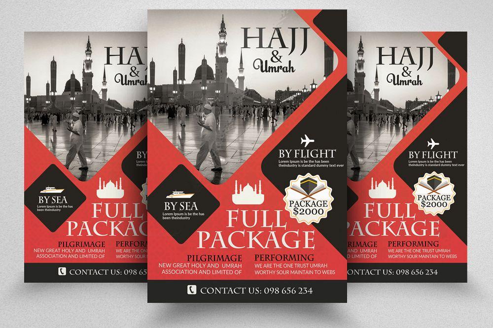 Umrah & Hajj Flyer Template example image 1