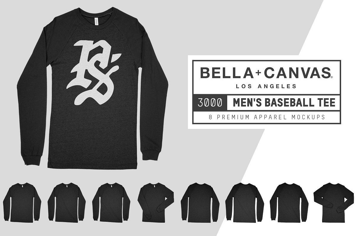 Bella Canvas 3000 Baseball Tee Mocks example image 1