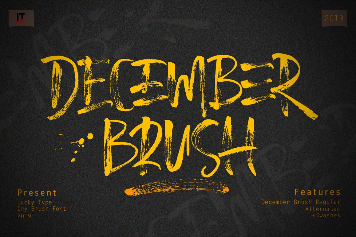 December Brush Font example image 1