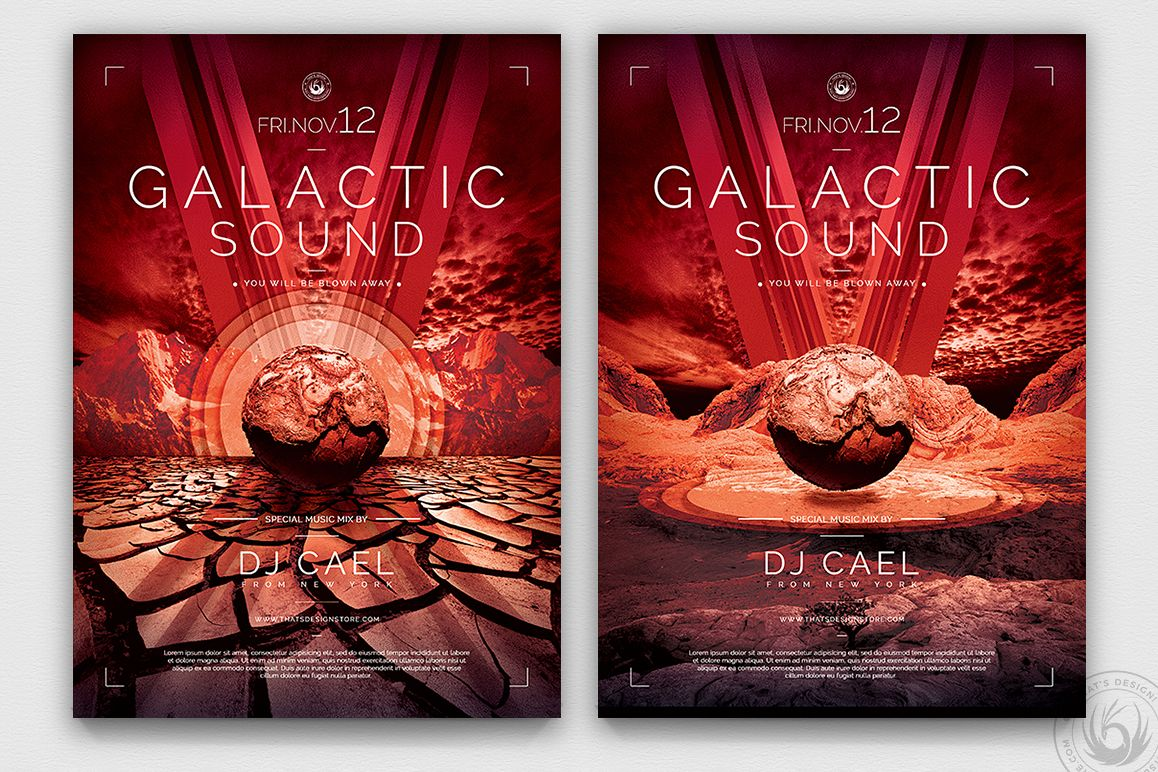 Galactic Sound Flyer Template V3 example image 1
