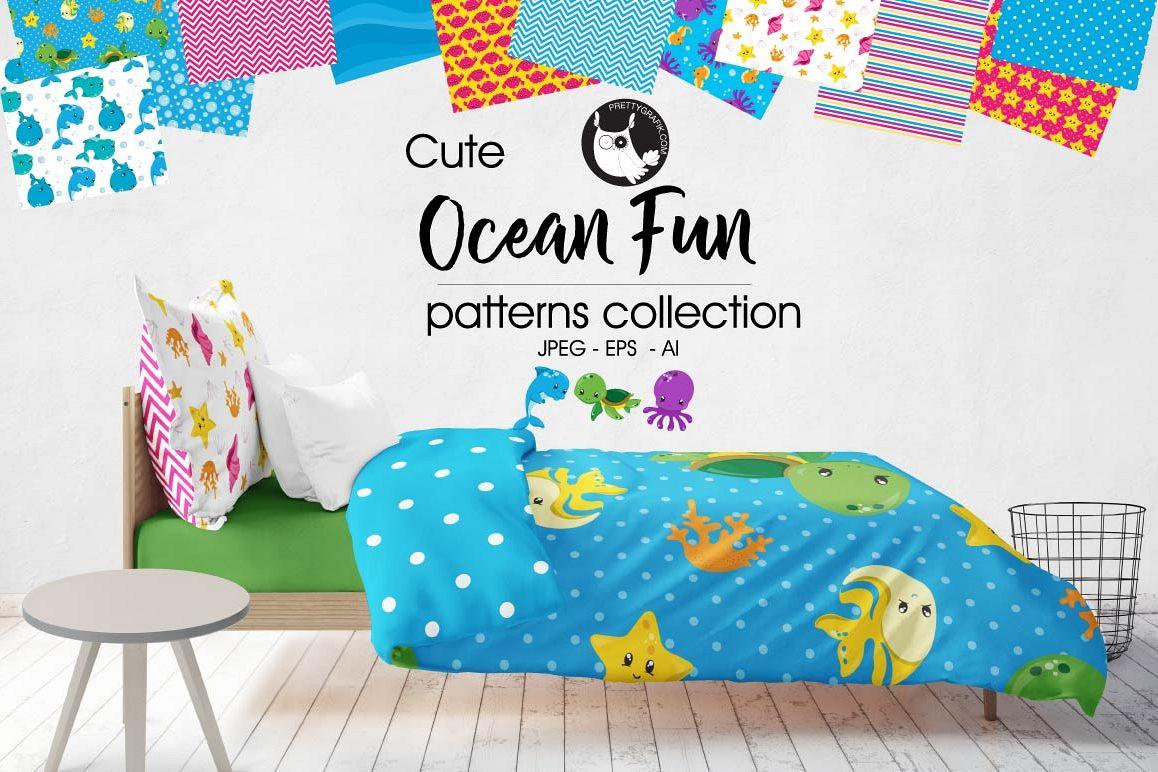 OCEAN-FUN, digital papers example image 1