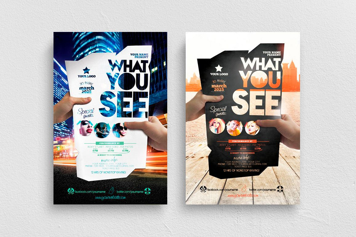 What You See Flyer Template example image 1
