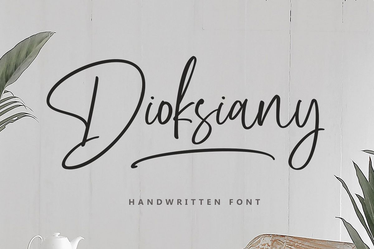 Dioksiany Font! example image 1