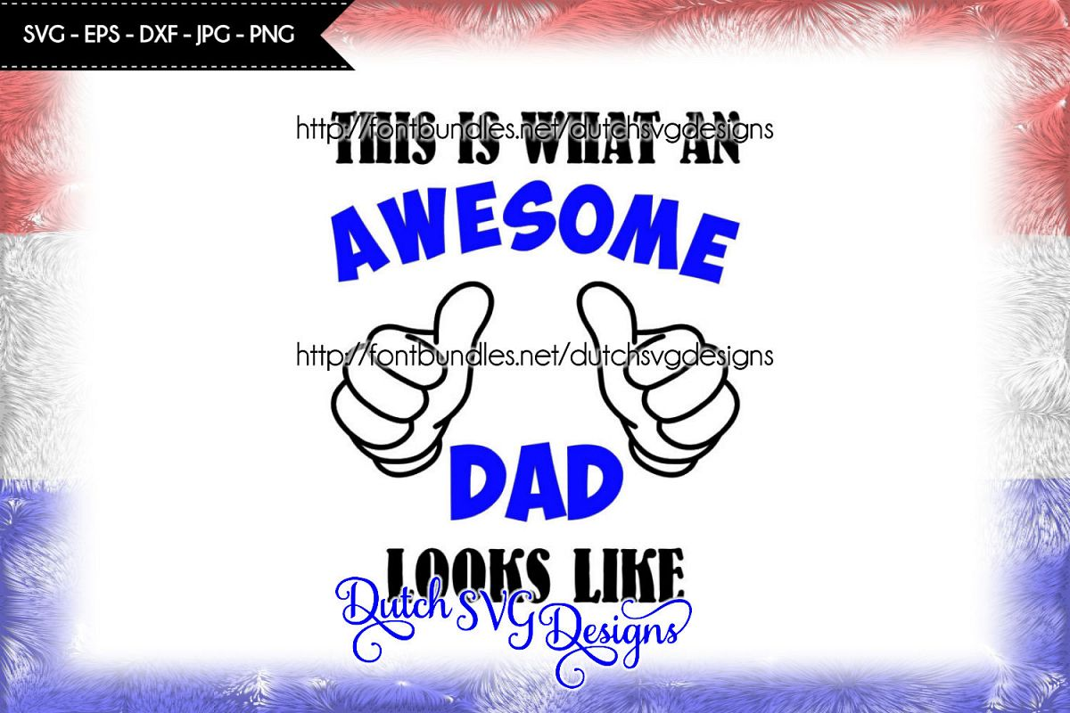Cutting file Awesome Dad example image 1
