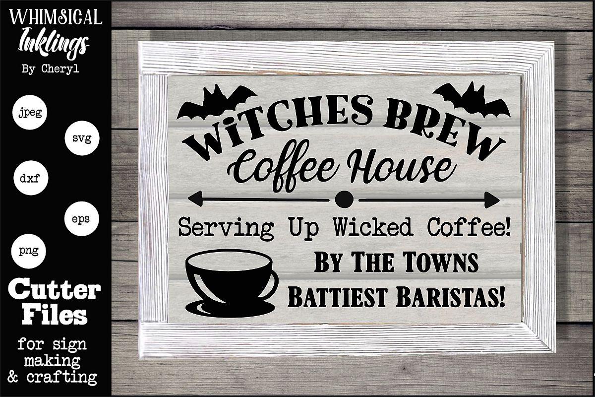 Batty Barista-Halloween SVG example image 1